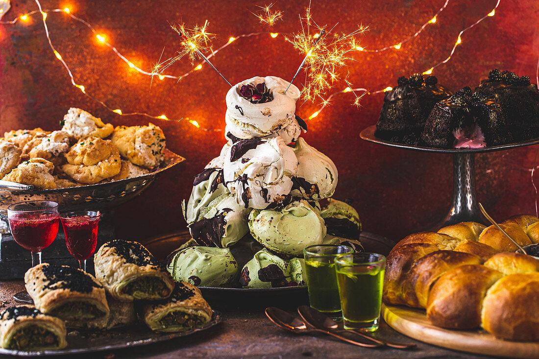 Sweet and savoury Christmas food