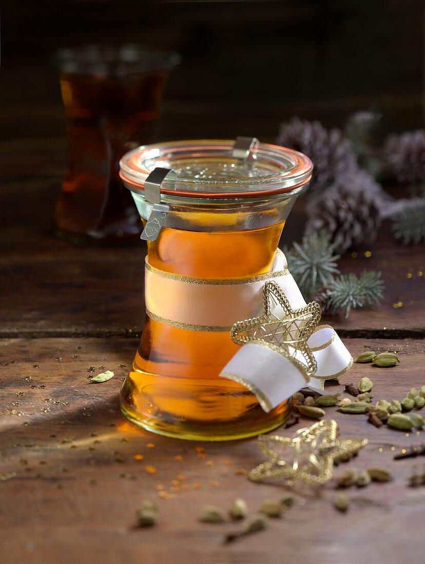 Whiskey liqueur as a gift