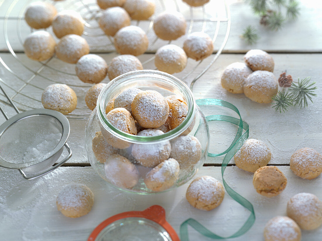 Spiced almond bites for Christmas