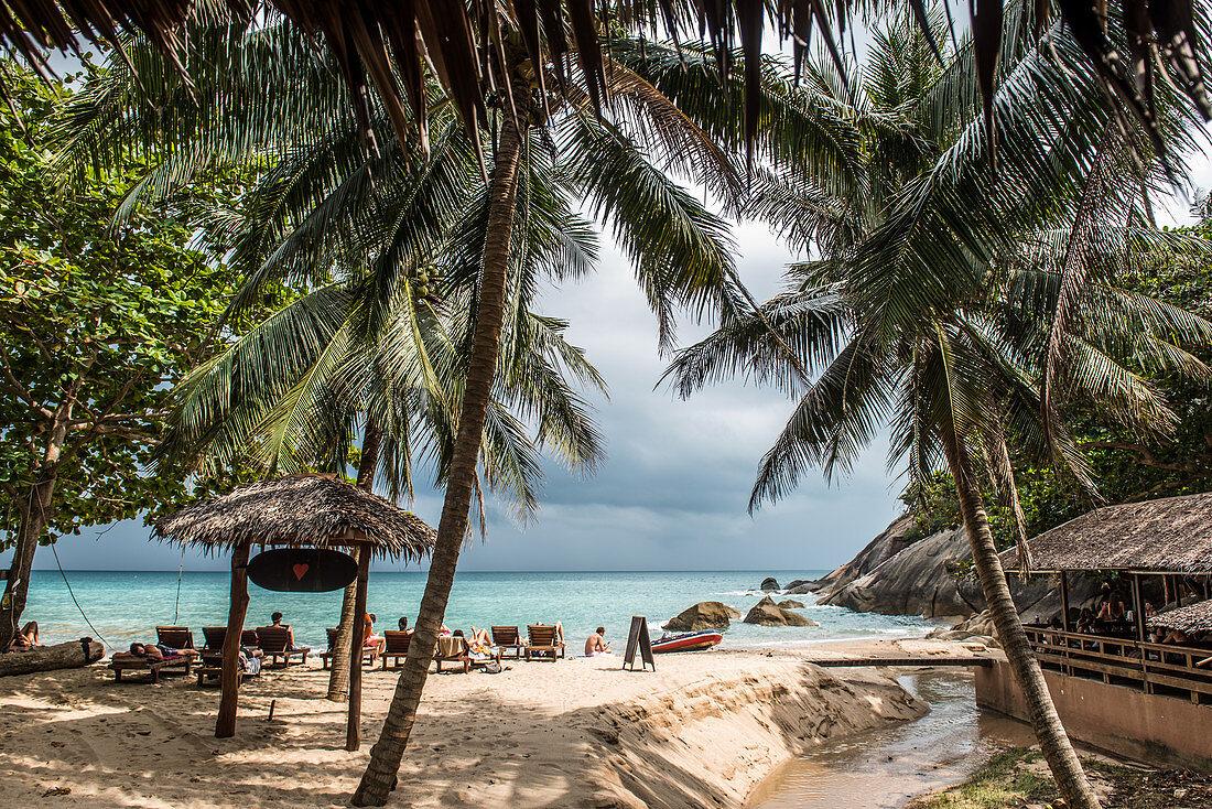 Strand auf der Insel Koh Phangan, Thailand
