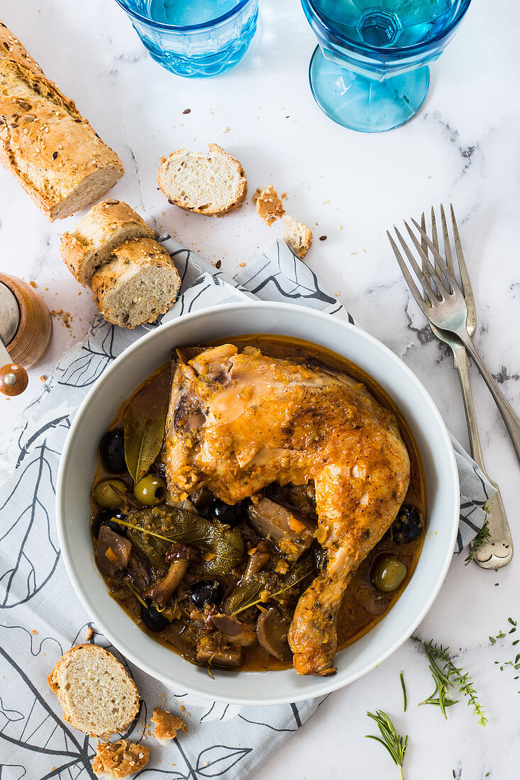 Chicken alla Boscaiola (Italy)