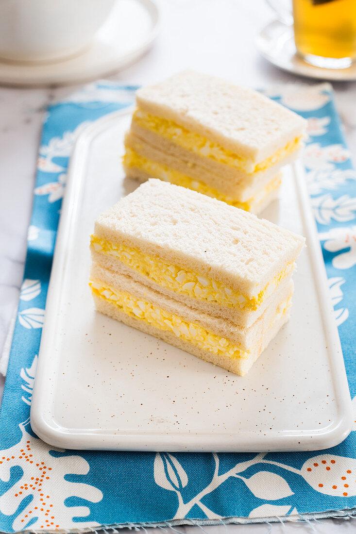 Egg salad sandwich (Tamago sando, Japan)