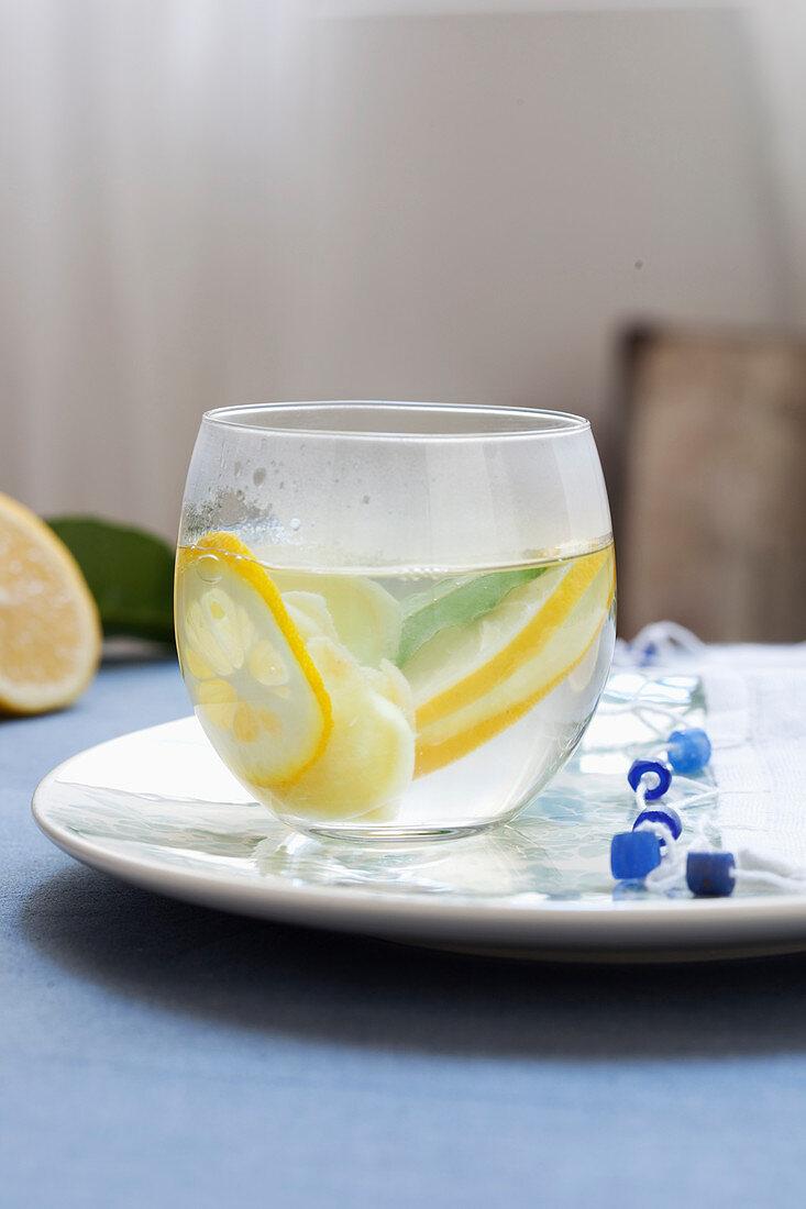 Fresh ginger and lemon tea