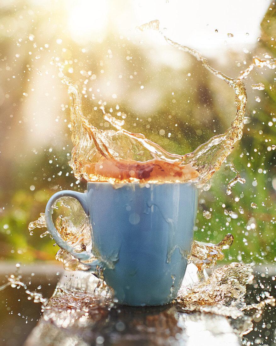 Tea splash