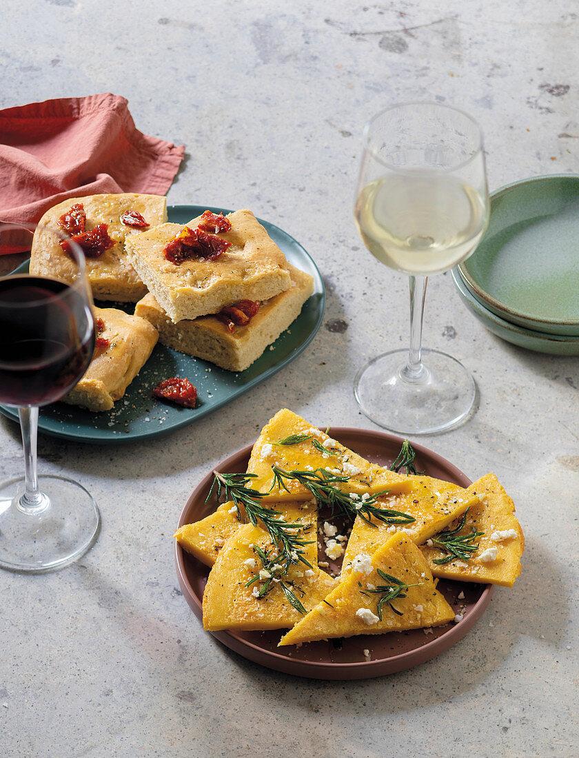 Schiacciata bread, Cecina Toscana flatbread