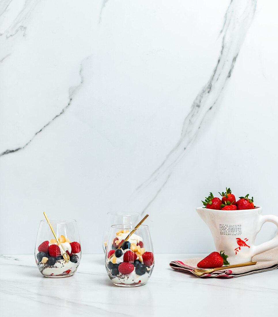 Chia Yoghurt Berries
