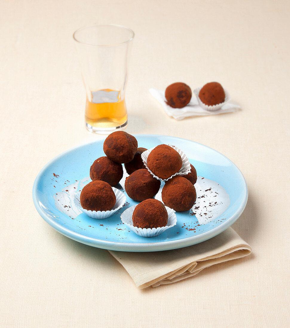 Mocha and cocoa confectionary