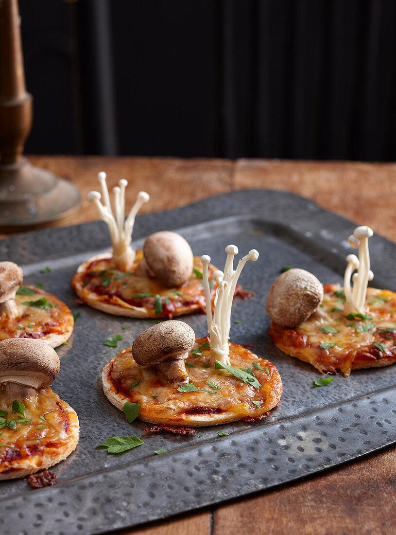 Healthy Halloween: Toadstool Pizzas