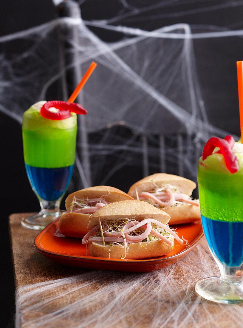 Healthy Halloween: Worm Coffin Rolls