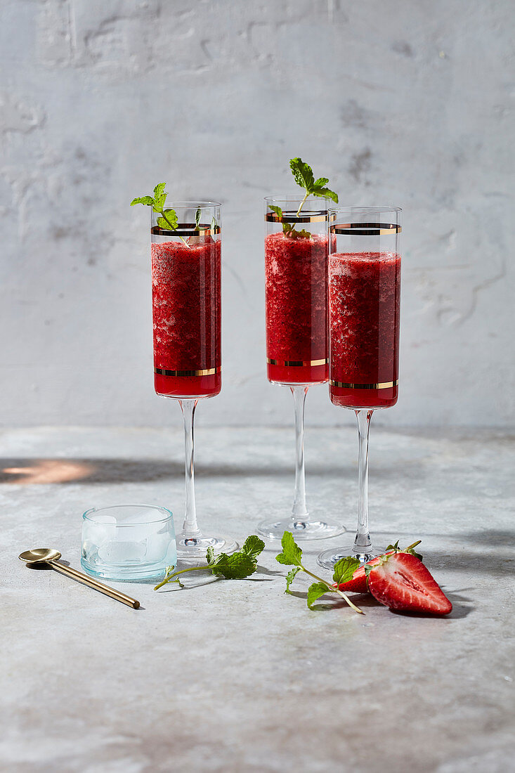 Strawberry, mint and mcc cooler