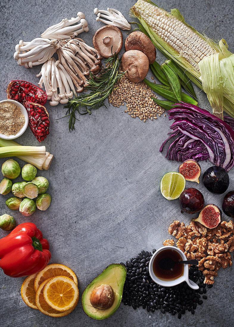 Ingredients for vegan cooking