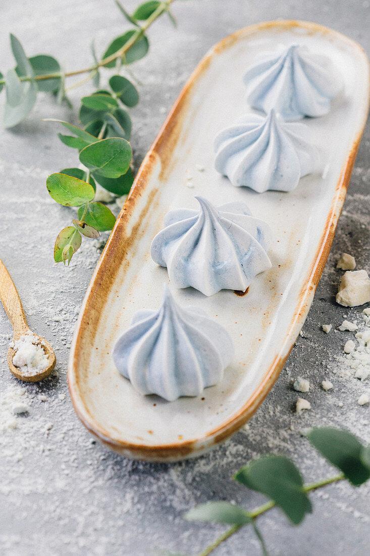 Blue egg white marshmallows