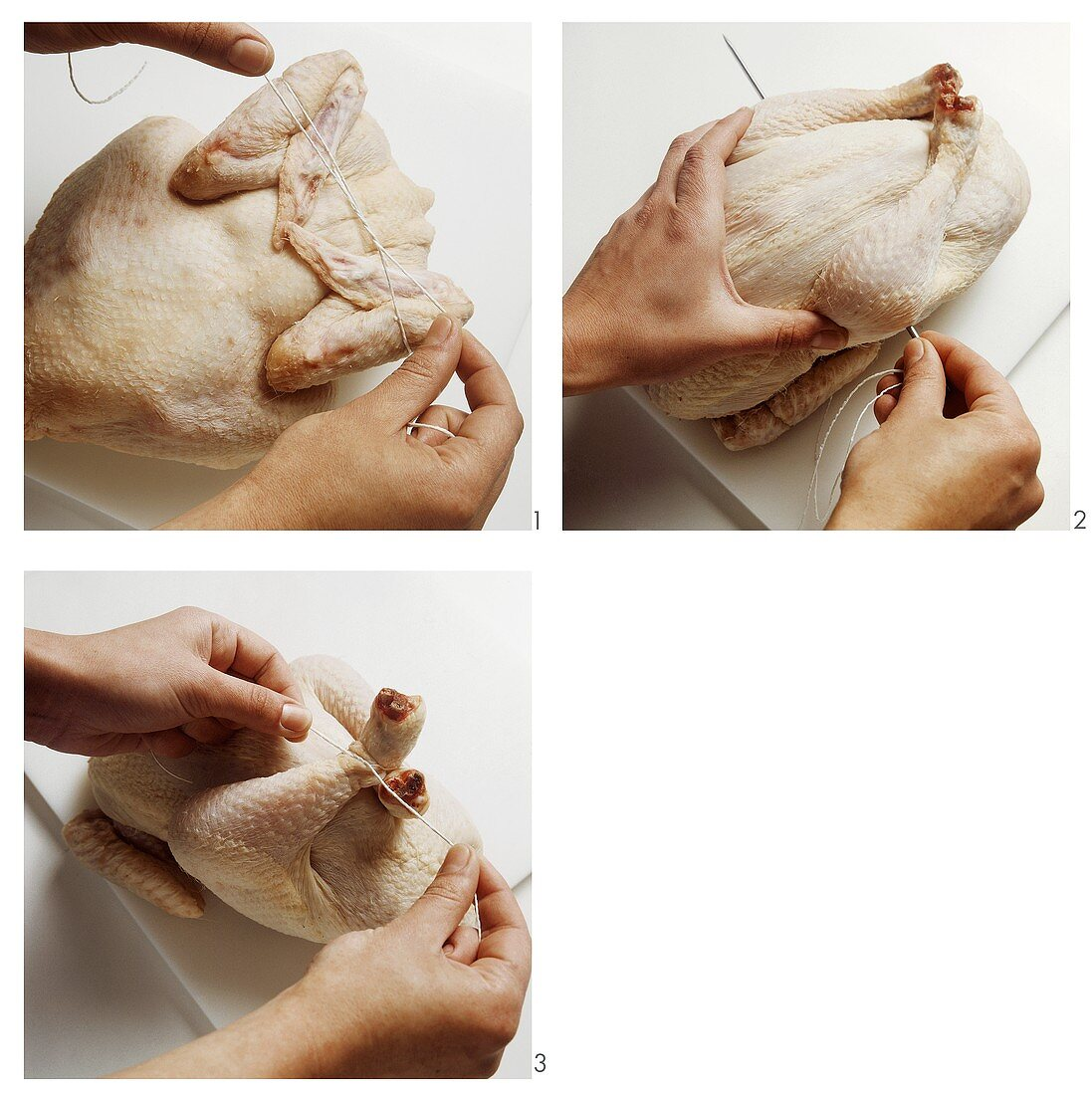 Trussing poultry