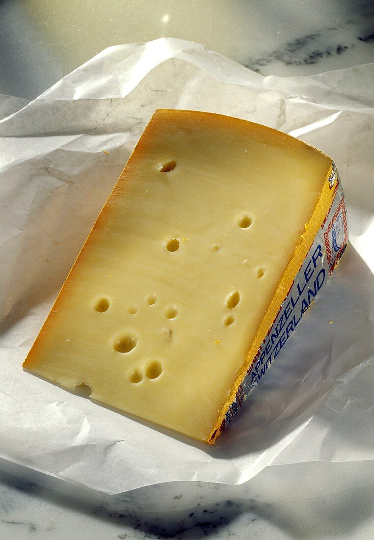 A Wedge of Appenzeller Cheese