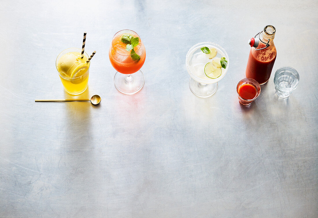 Four types of fancy party drinks