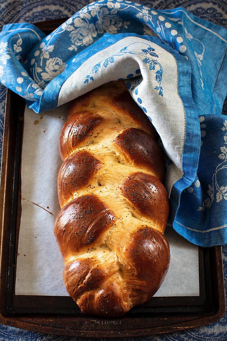 Challah bread (Jewish bread plait)