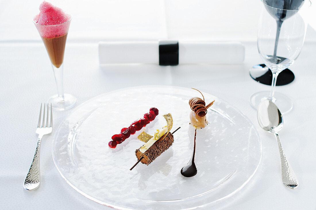 Dessert at the Aqua Ritz-Carlton, Wolfsburg, Germany