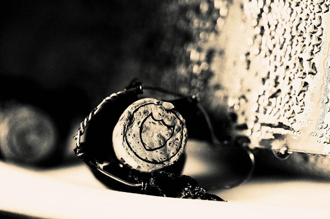 Agraffe Korken, Dom Perignon, Champagne, Frankreich