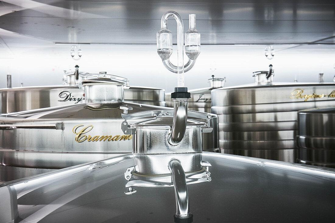 Steel tanks, Champagne Lanson, France