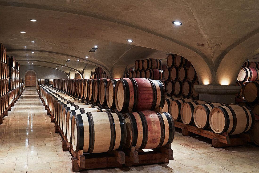 Barrique cellar, E.Guigal, Northern Rhone, France