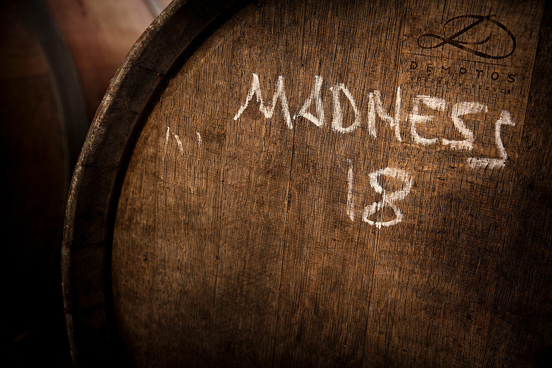 A barrique barrel, vinicola 4 kilos, Majorca, Spain