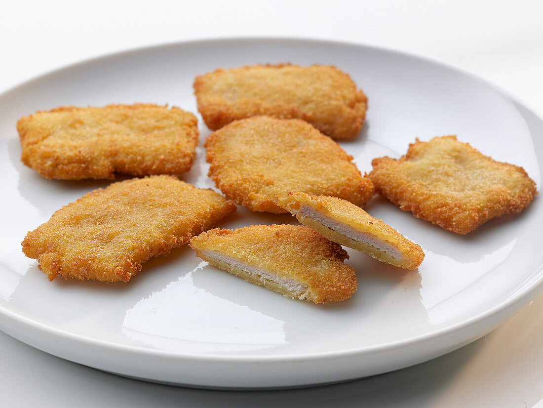 A plate of mini Viennese-style escalopes