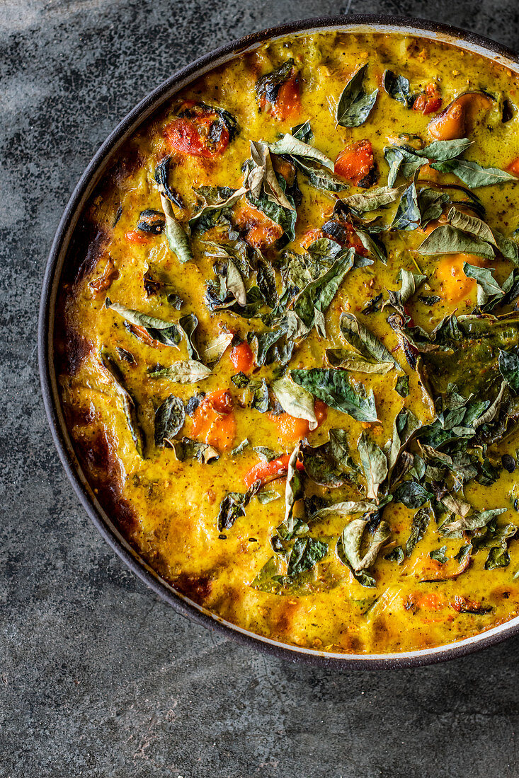Mussel Bobotie - a seafood version of the traditional South African bobotie