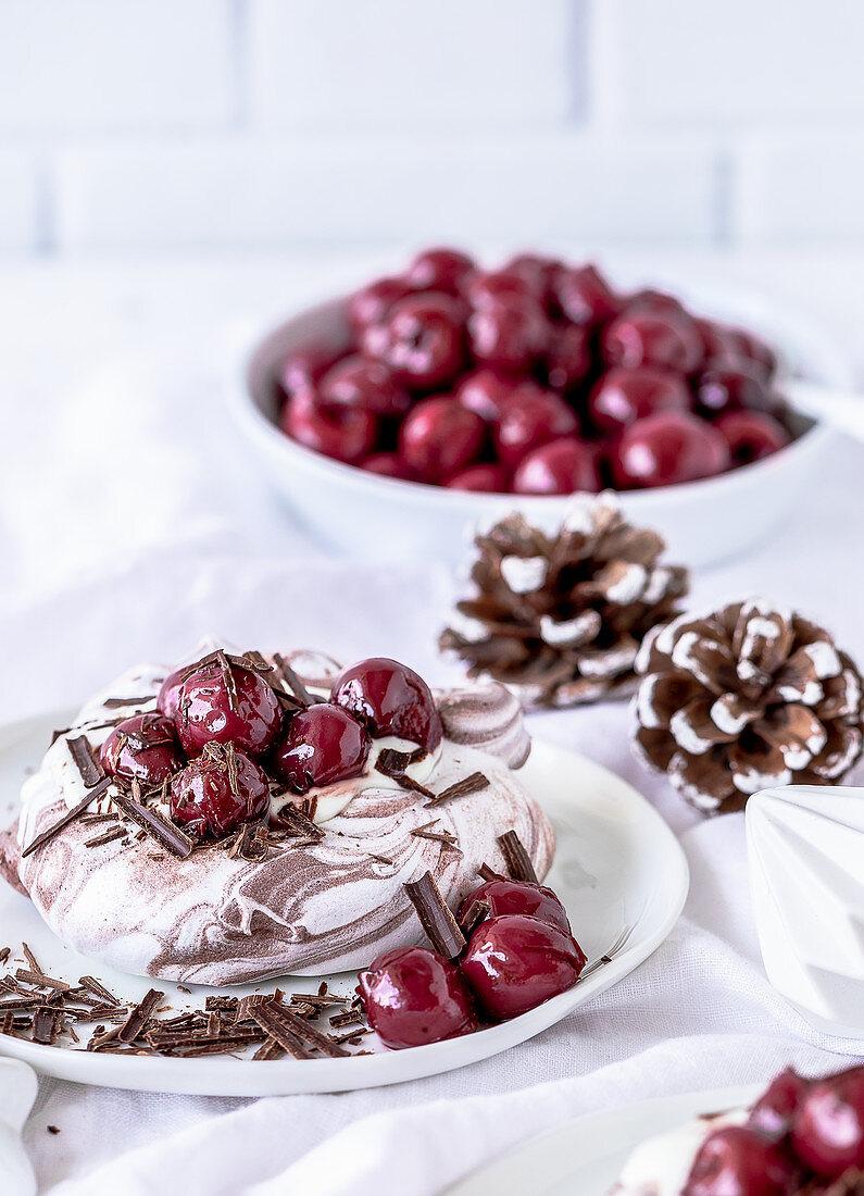 Mini Pavlova Black Forest Cherry