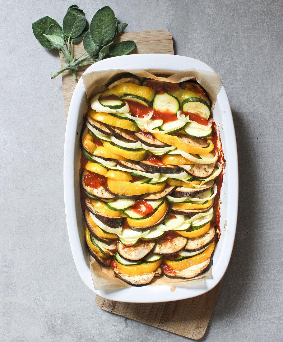 Tian provençal – vegan oven-baked ratatouille