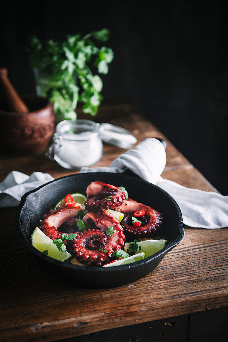 Grilled Octopus with Lime and Chilli