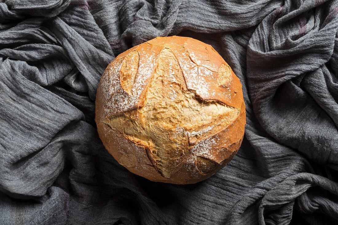 Artisan round bread loaf