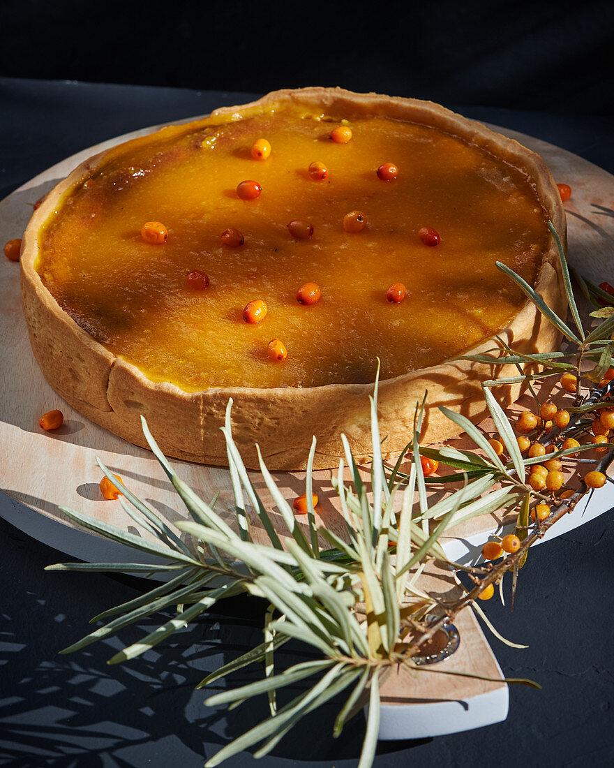 Sea buckthorn cake