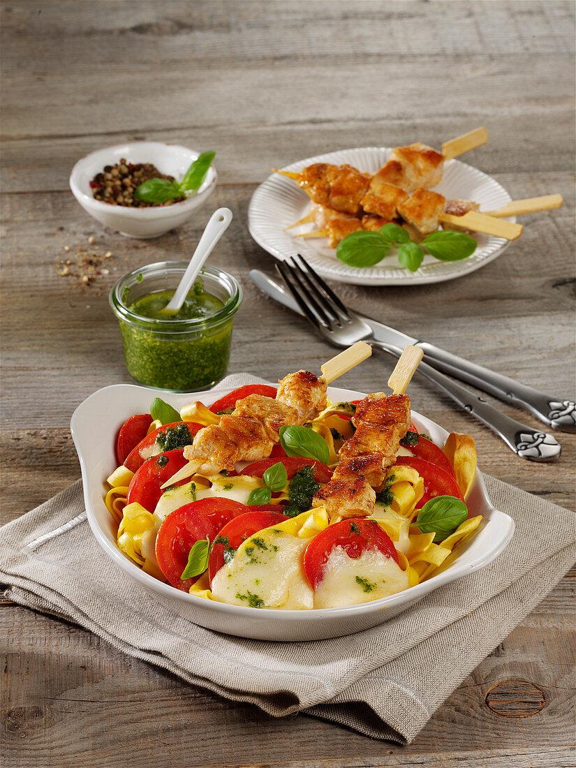 Mozzarella gratin with chicken
