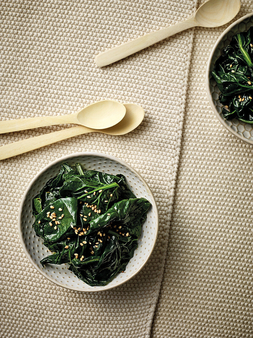 Horenso Ohitashi – Japanese spinach in a spicy dashi broth