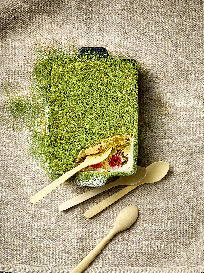 Matchamisu – tiramisu with matcha powder