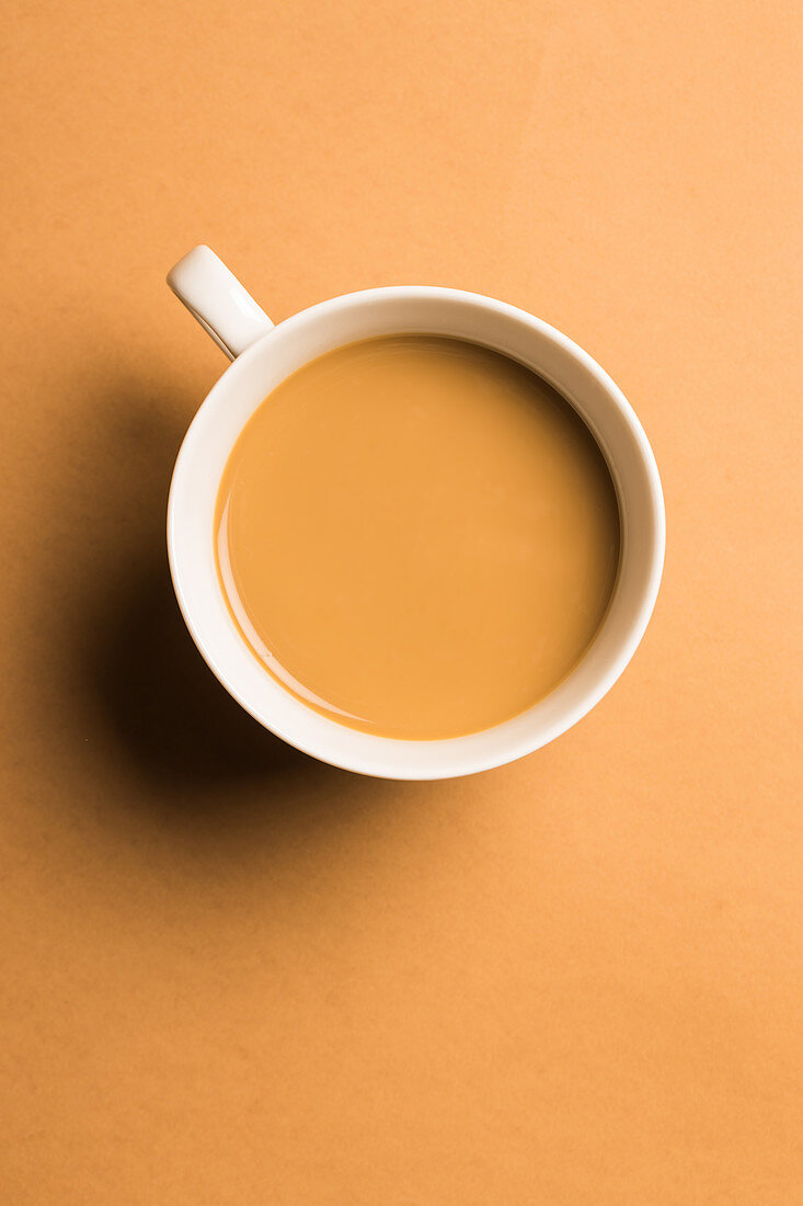 A cup of coffee with milk