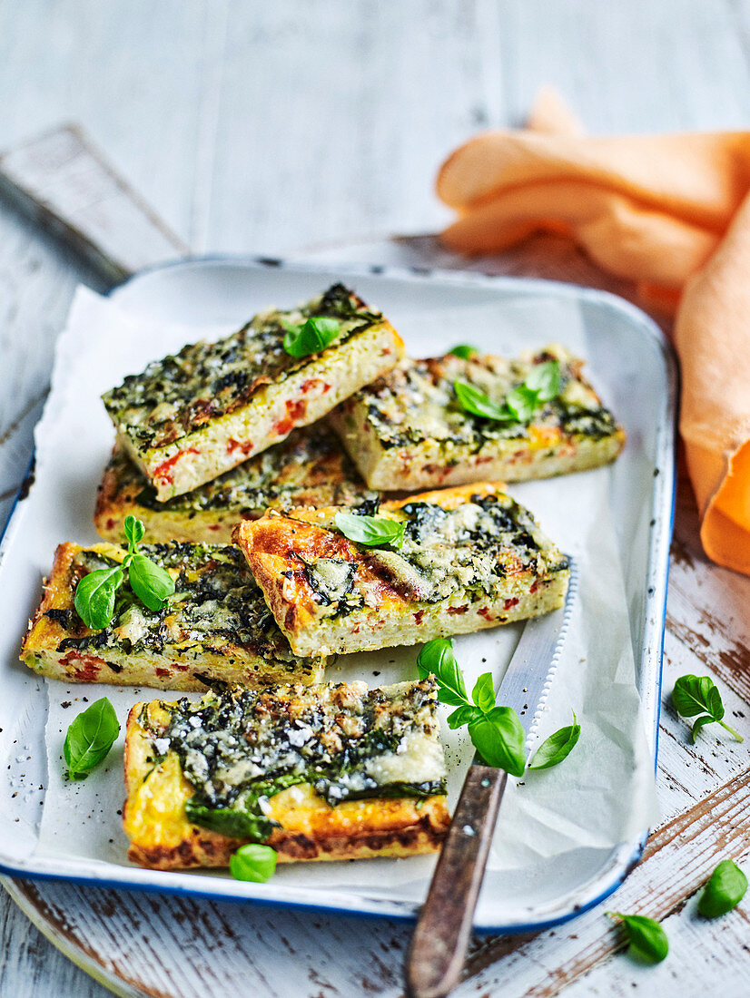 Gluten-free brown rice and vegetable frittata