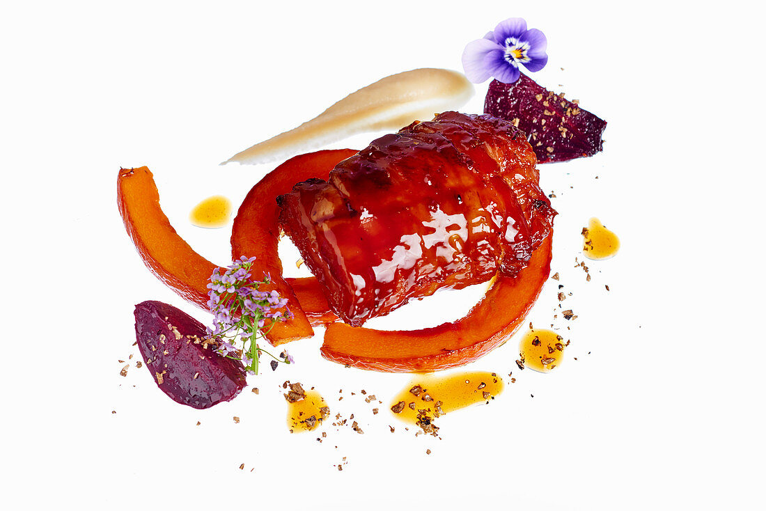 Roasted Goat with pumpkin
