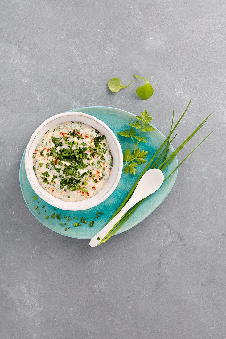 Tofu herb cream