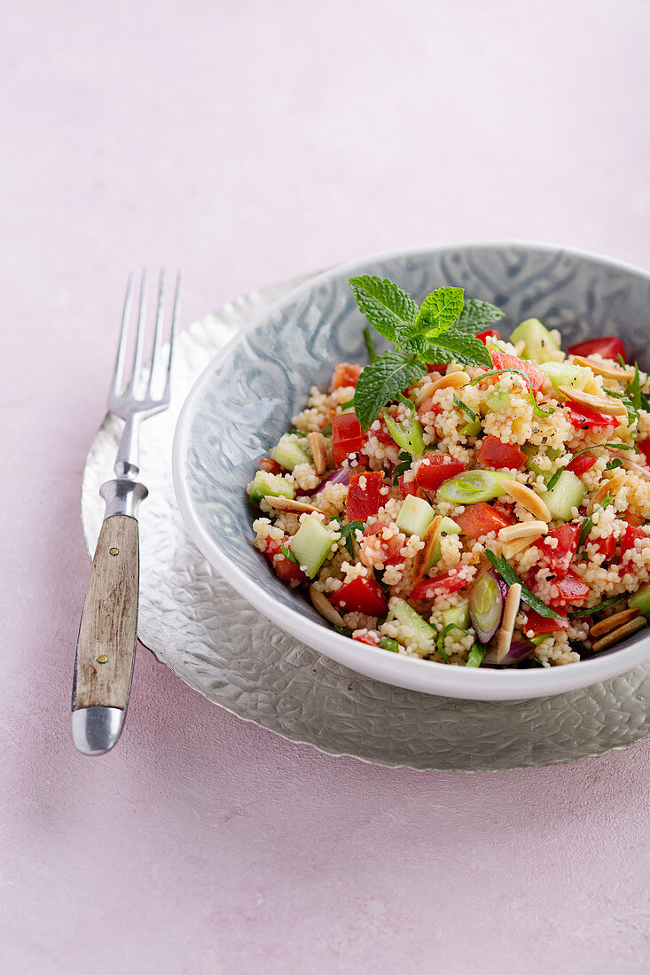 Tabbouleh with mint and almonds