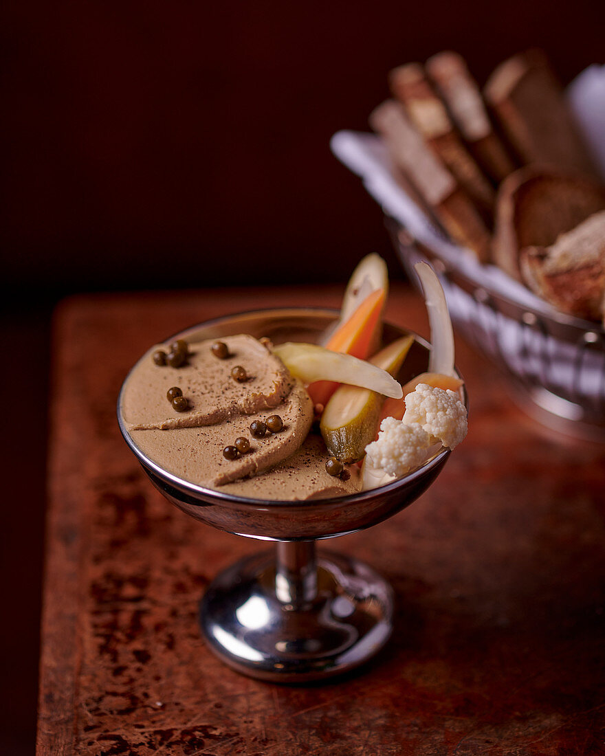 Goose liver mousse with pickles
