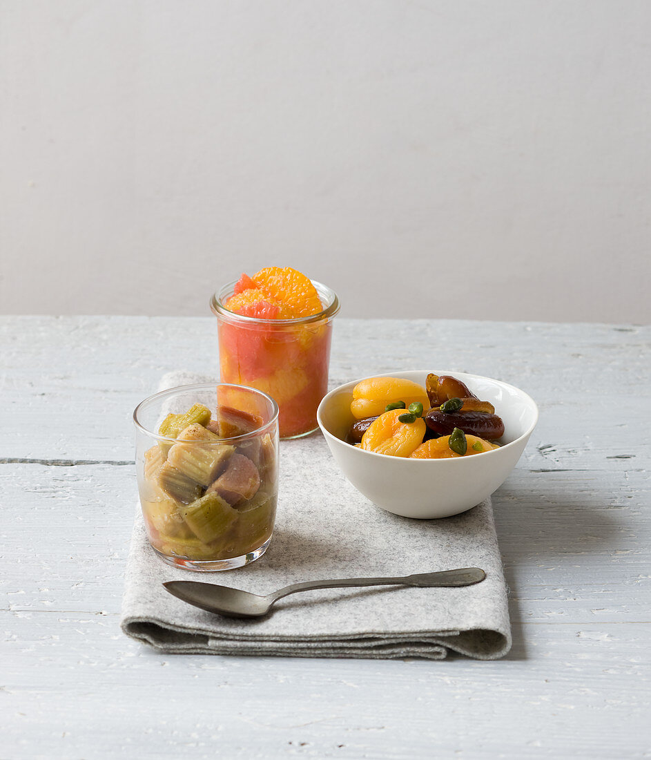 Fruits compote variety