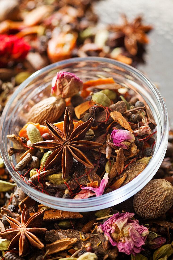 Ingredients for Moroccan Ras el Hanout