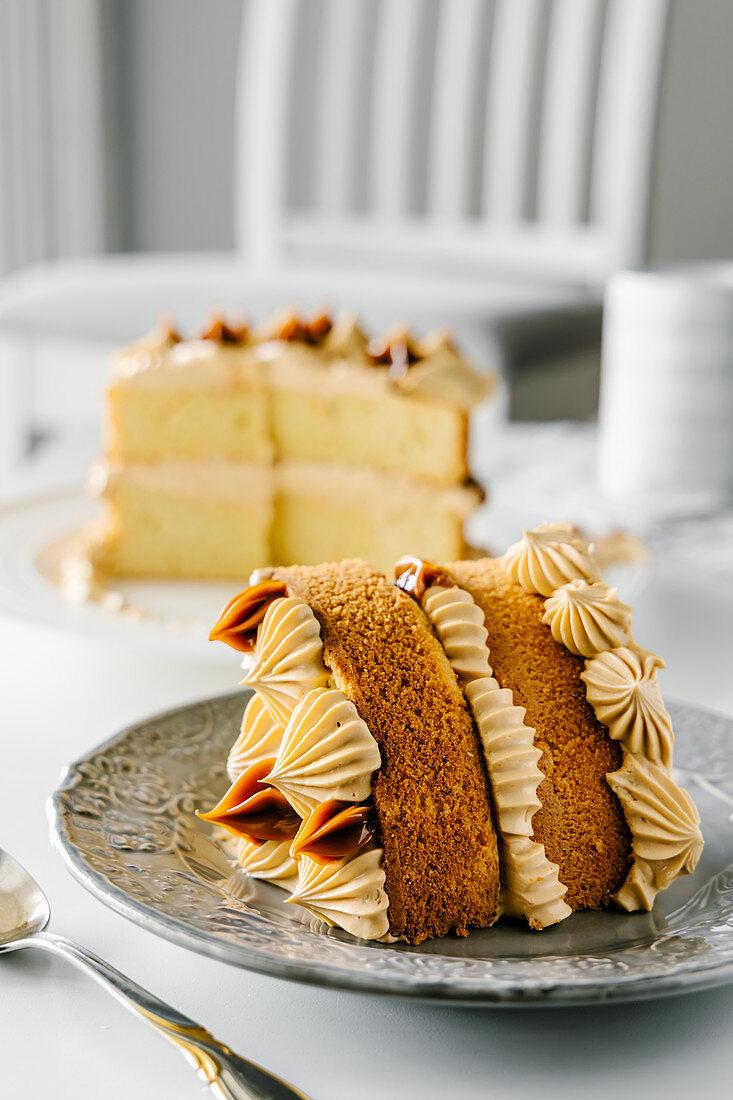 Dulce de leche caramel cake