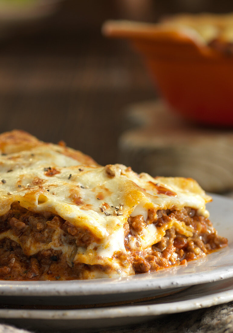 Lasagna on a plate