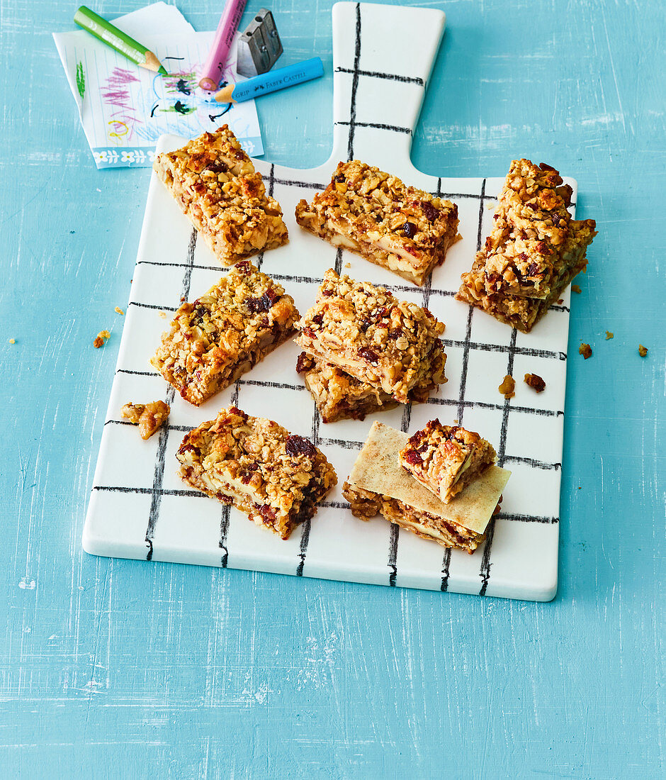 Granola bar with dried fruits and honey