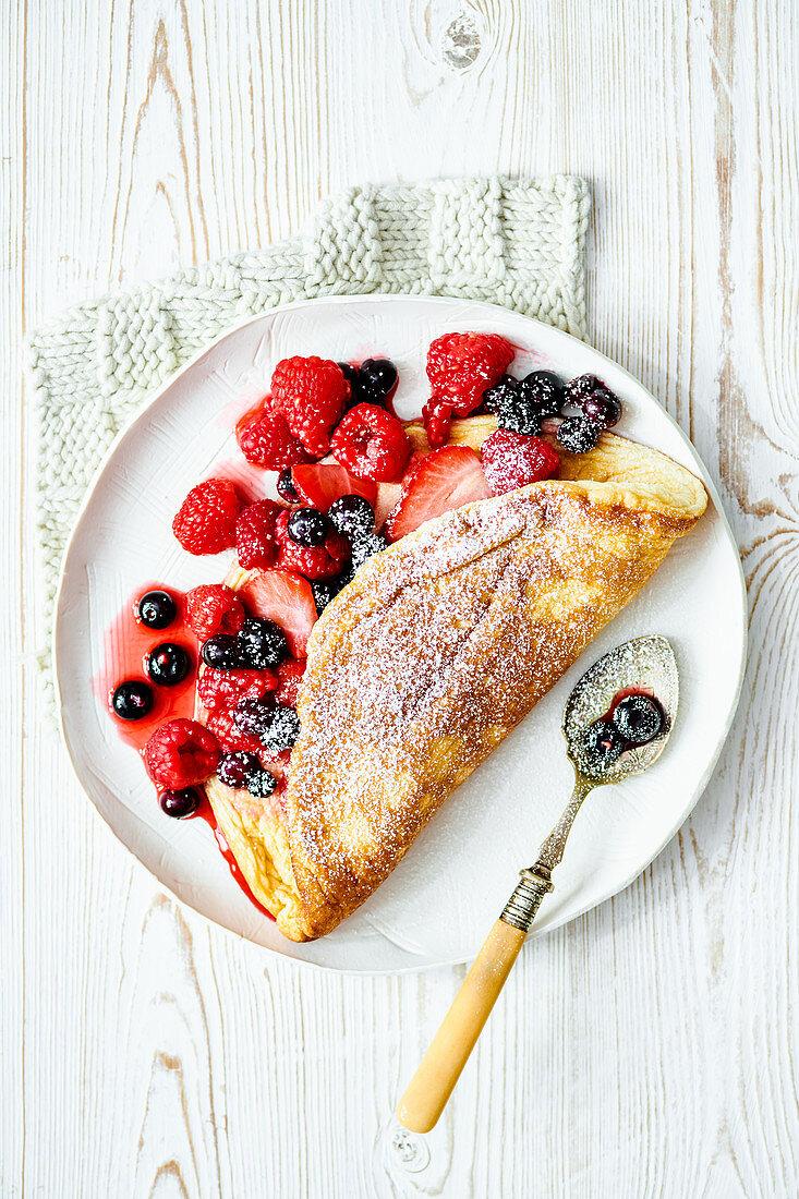 Berry souffle omelette pancake