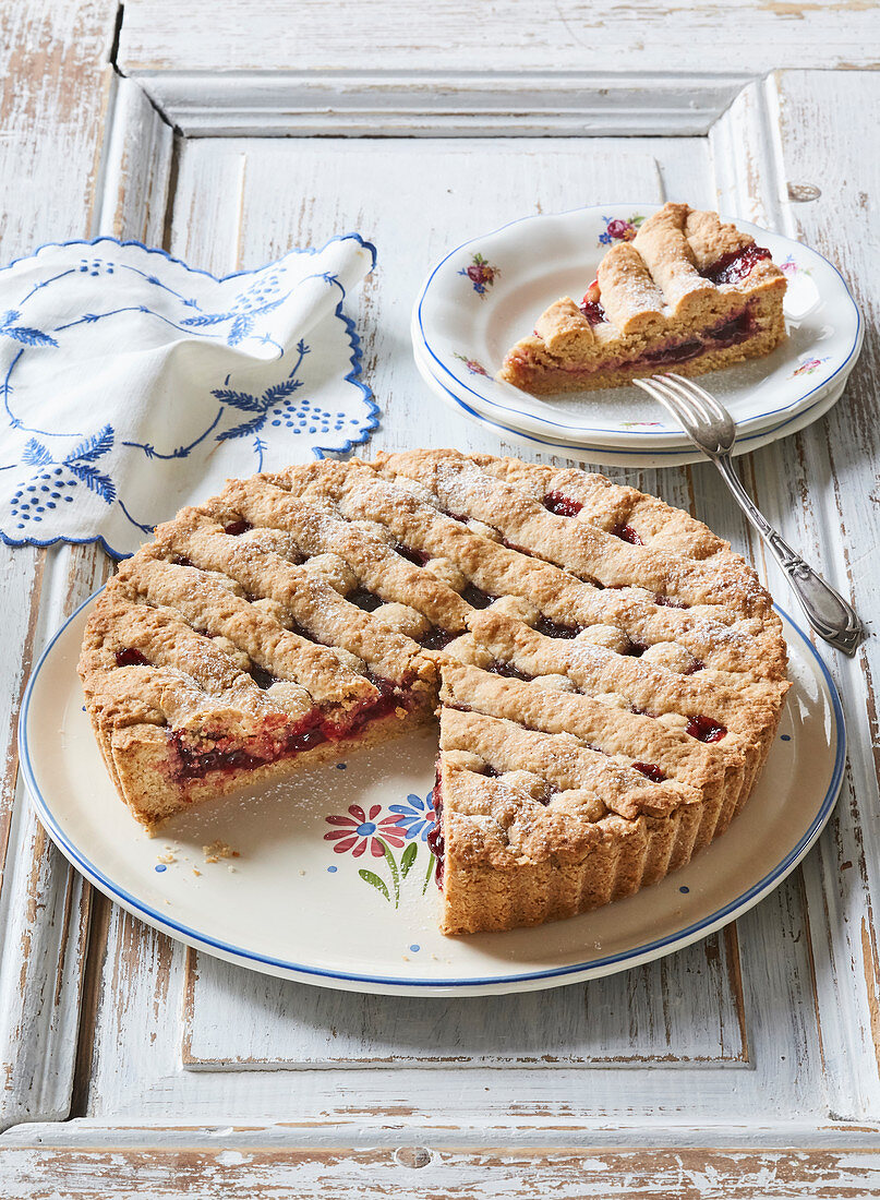 Greaves cake with jam