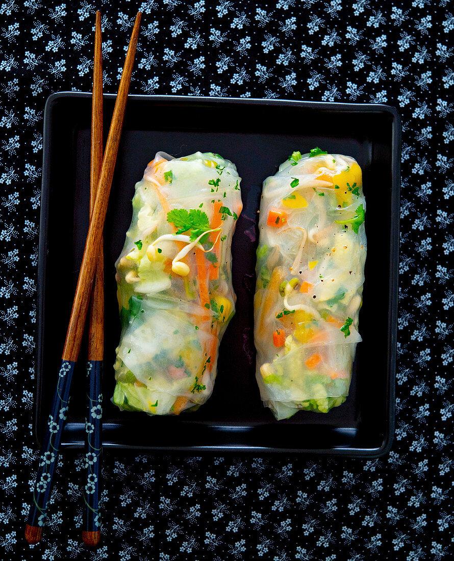 Oriental spring rolls
