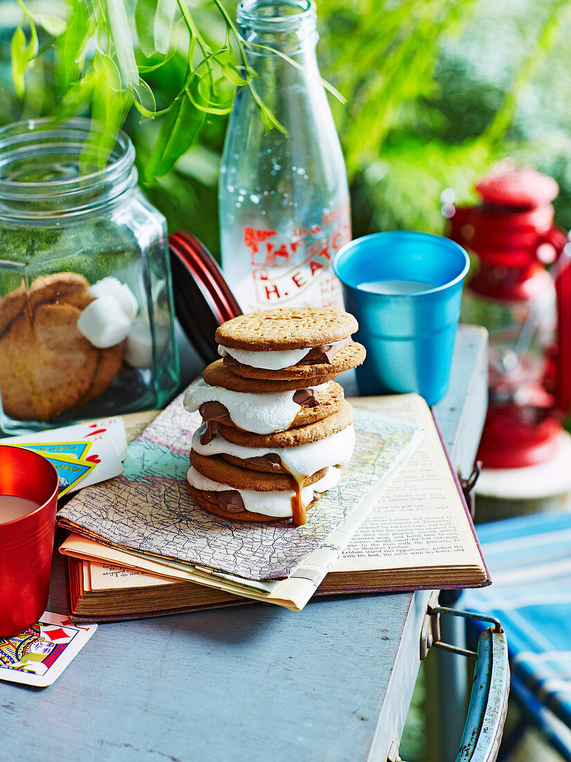 Digestive biscuits with s'mores